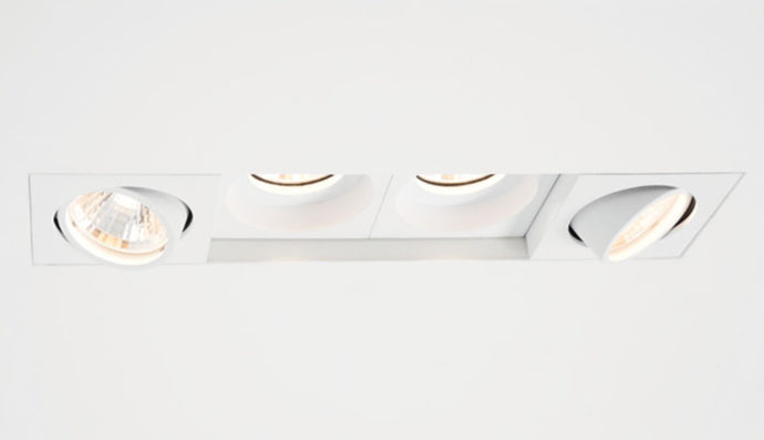 The light modules are clicked into the frame and can be adjusted in their position.