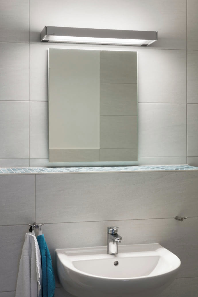 "In the bathrooms ""Vanera"" provides glare-free, even illumination and moreover is naturally splash-proof."