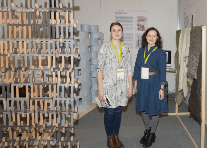 The projects by start-ups and design students provide a refreshing change, like those by Bára Finnsdottir (left) and Dominyka Sidabraite (right) from Weißensee Academy of Art in Berlin.
