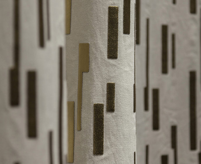 "That certain je ne sais quoi: foam applications in precious-metal colors in the fabric ""Metropolitan"" by Nya Nordiska."
