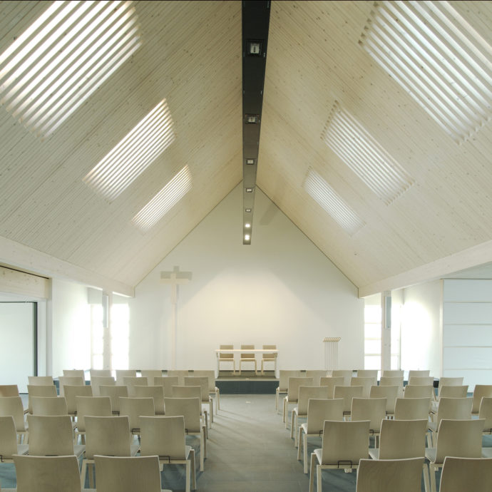 Church in Platendorf, Germany, by Ulrich Arndt, 1st prize in the VELUX Architects' Competition 2012