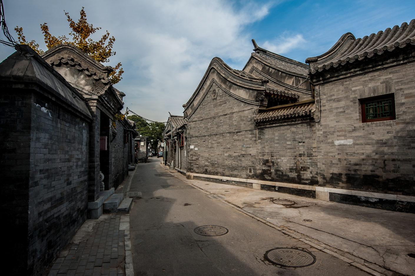 Hutong street view in Baitasi, Beijing, Beijing Design Week 2016