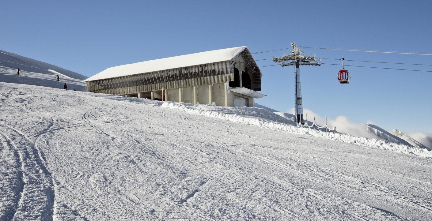 Bergstation der Gondelbahn am Chäserrugg von Herzog & de Meuron