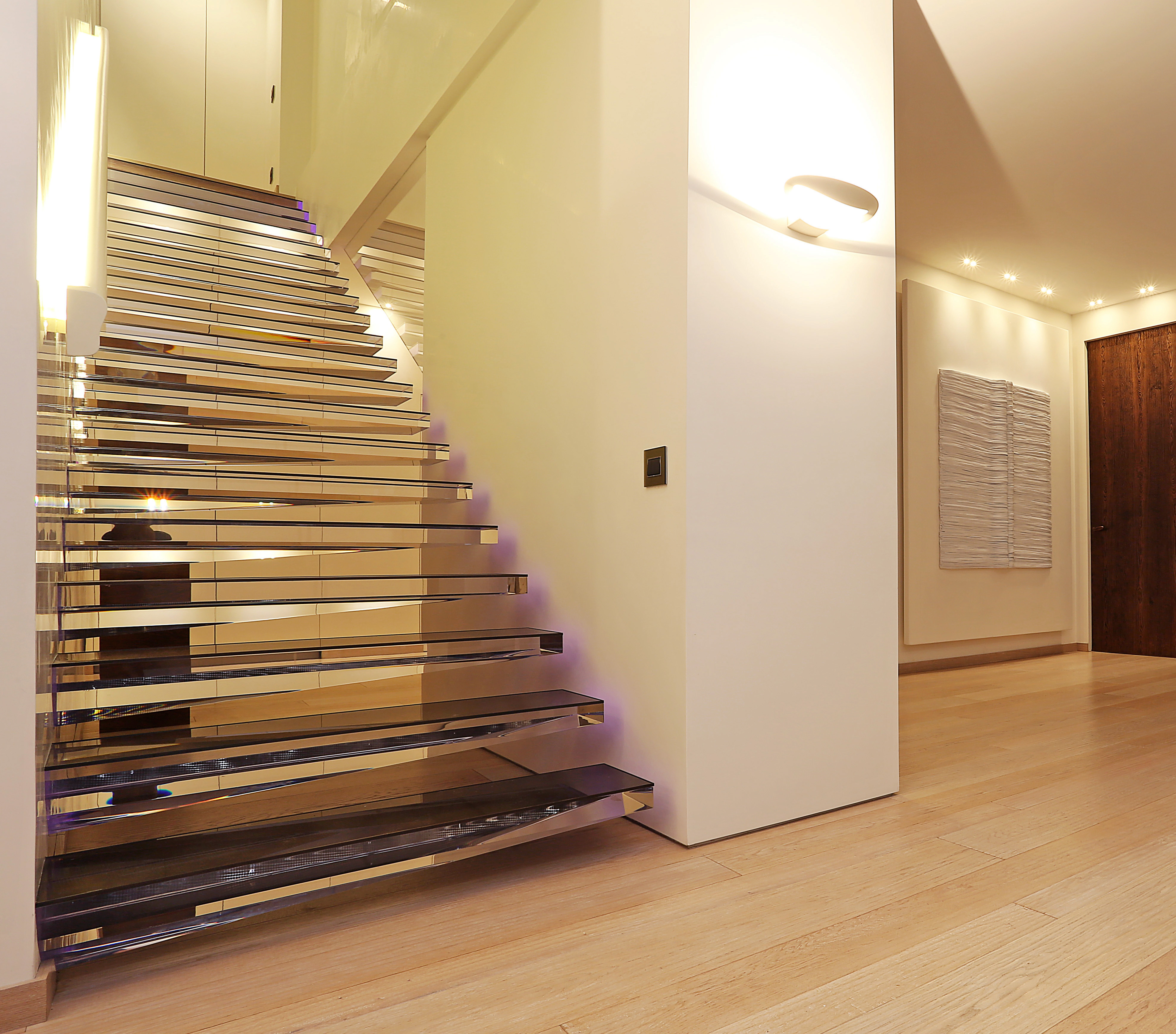 Siller has created a transparent staircase illuminated | STYLEPARK