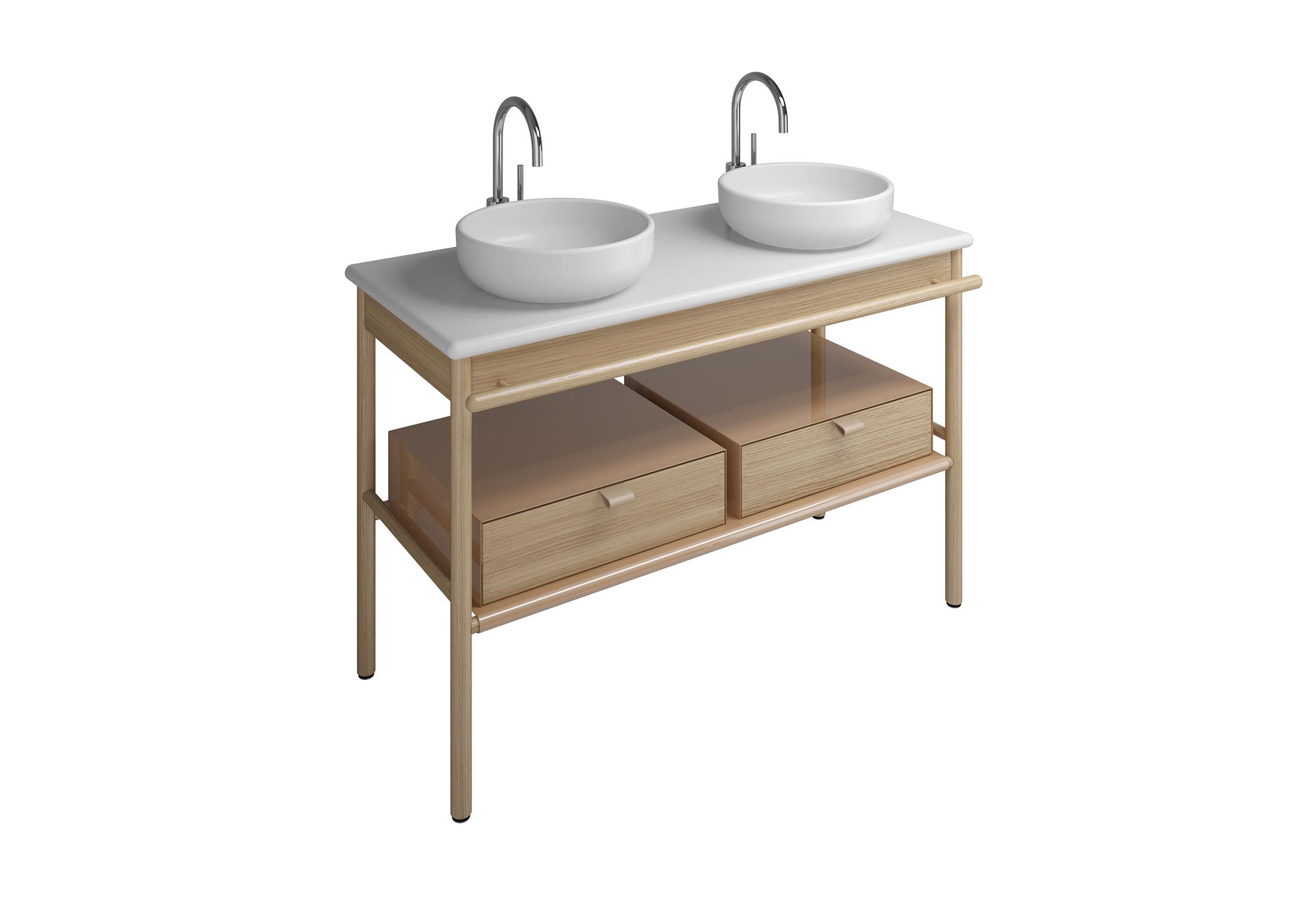Mya Keramik-Aufsatzwaschtische mit Waschtischunterschrank ...