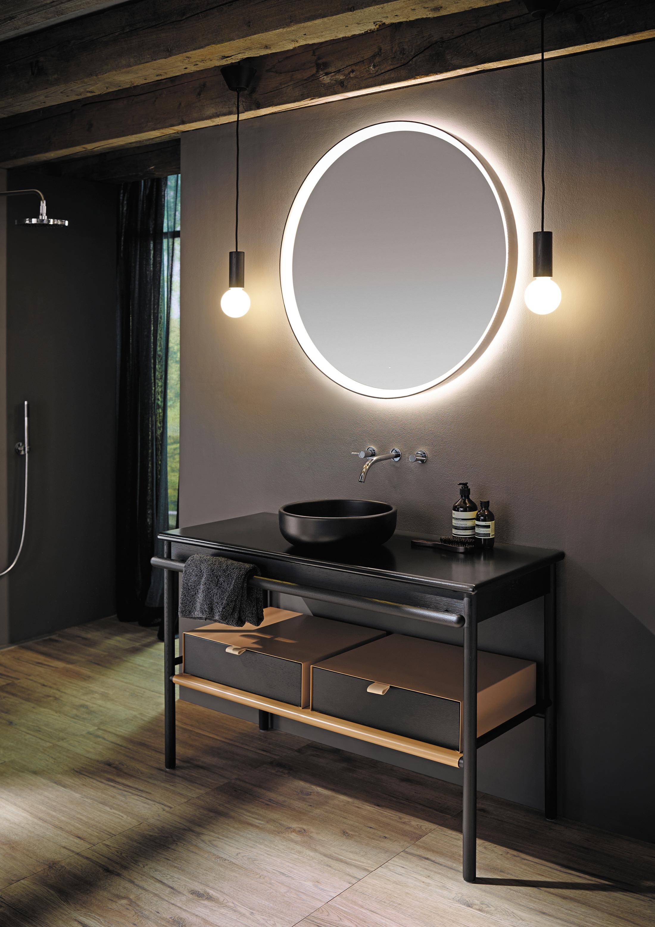 mya spiegel mit led beleuchtung und umlaufender led rahmen
