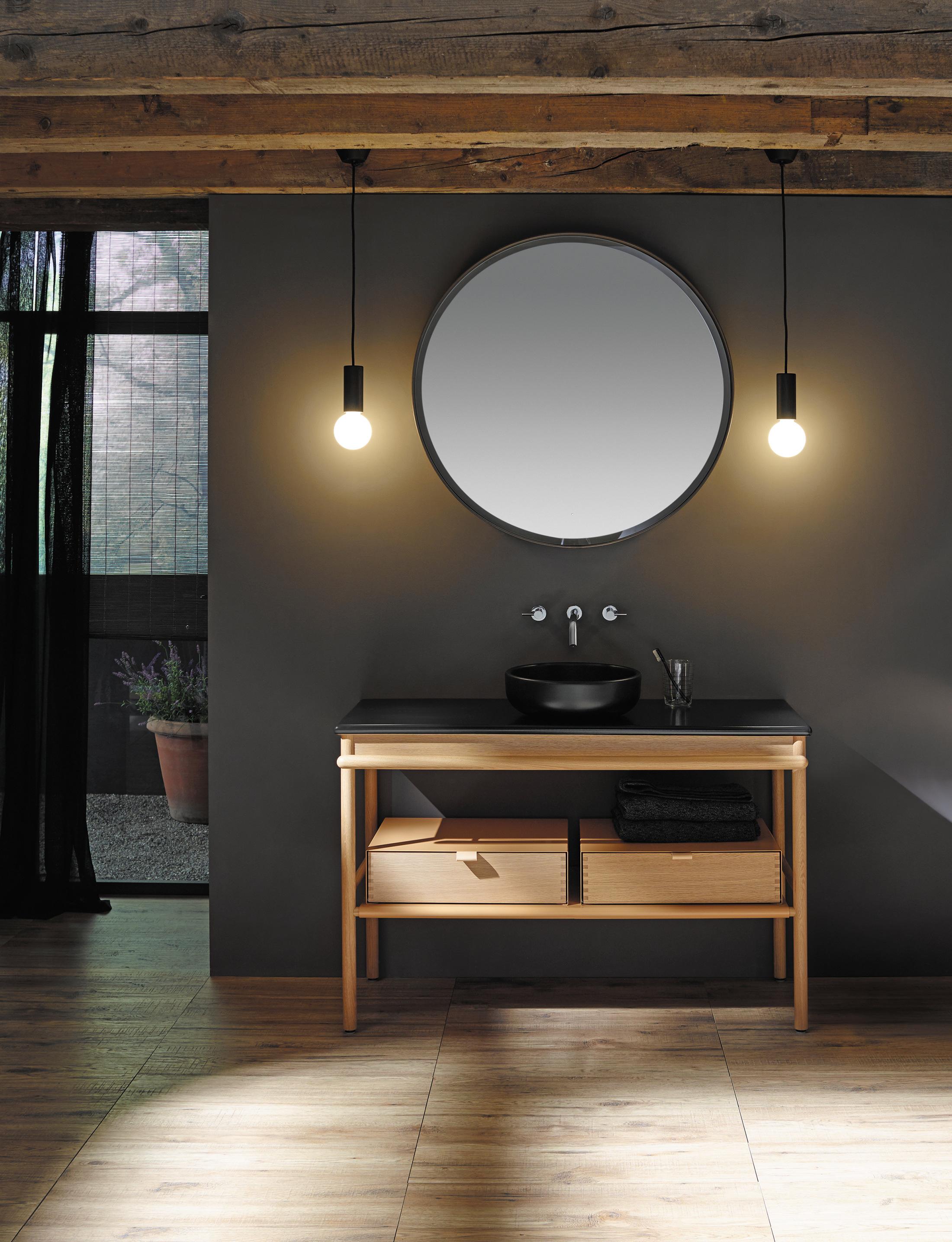 mya keramik aufsatzwaschtisch mit waschtischunterschrank. Black Bedroom Furniture Sets. Home Design Ideas