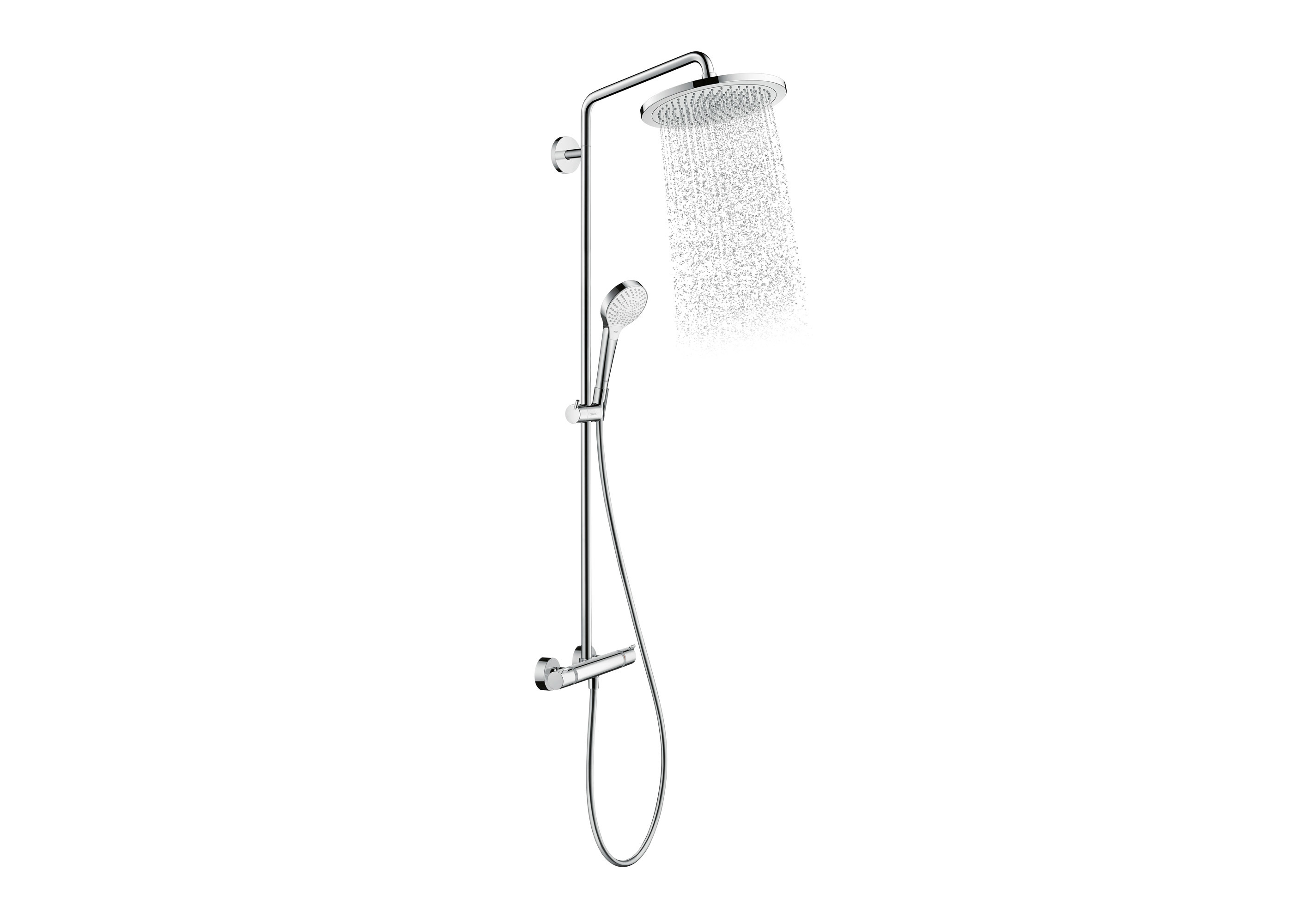 croma 280 select showerpipe mixer by hansgrohe stylepark. Black Bedroom Furniture Sets. Home Design Ideas
