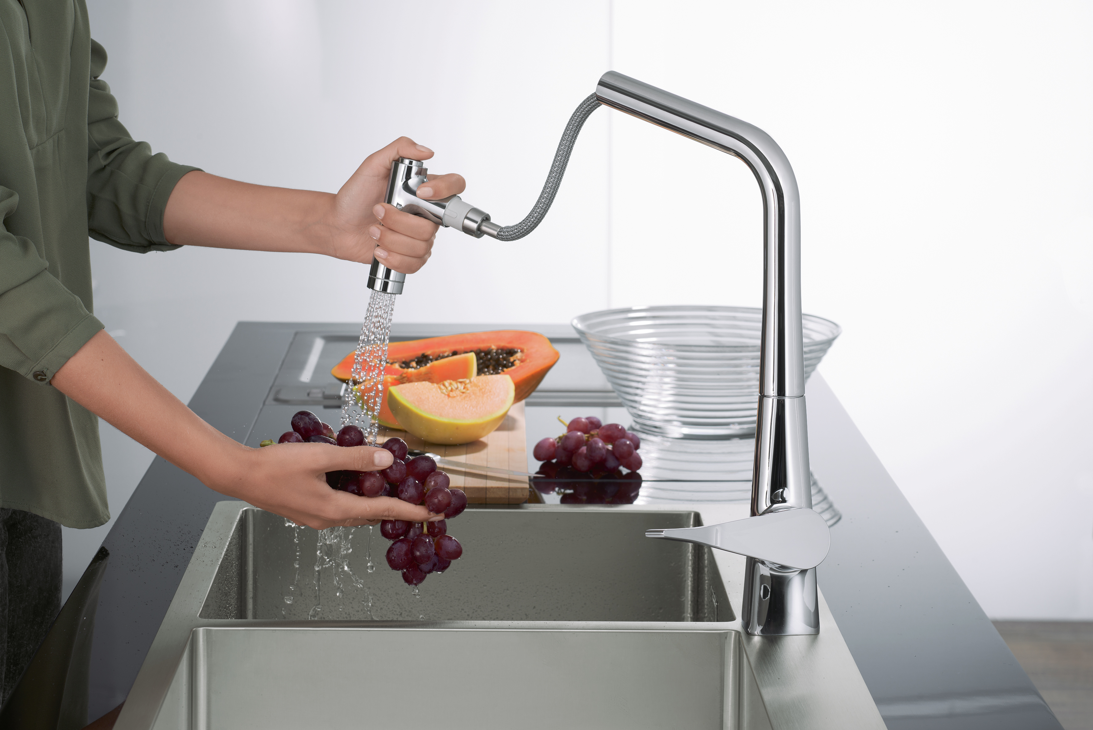 Sink Combi kitchen mixer by Hansgrohe | STYLEPARK