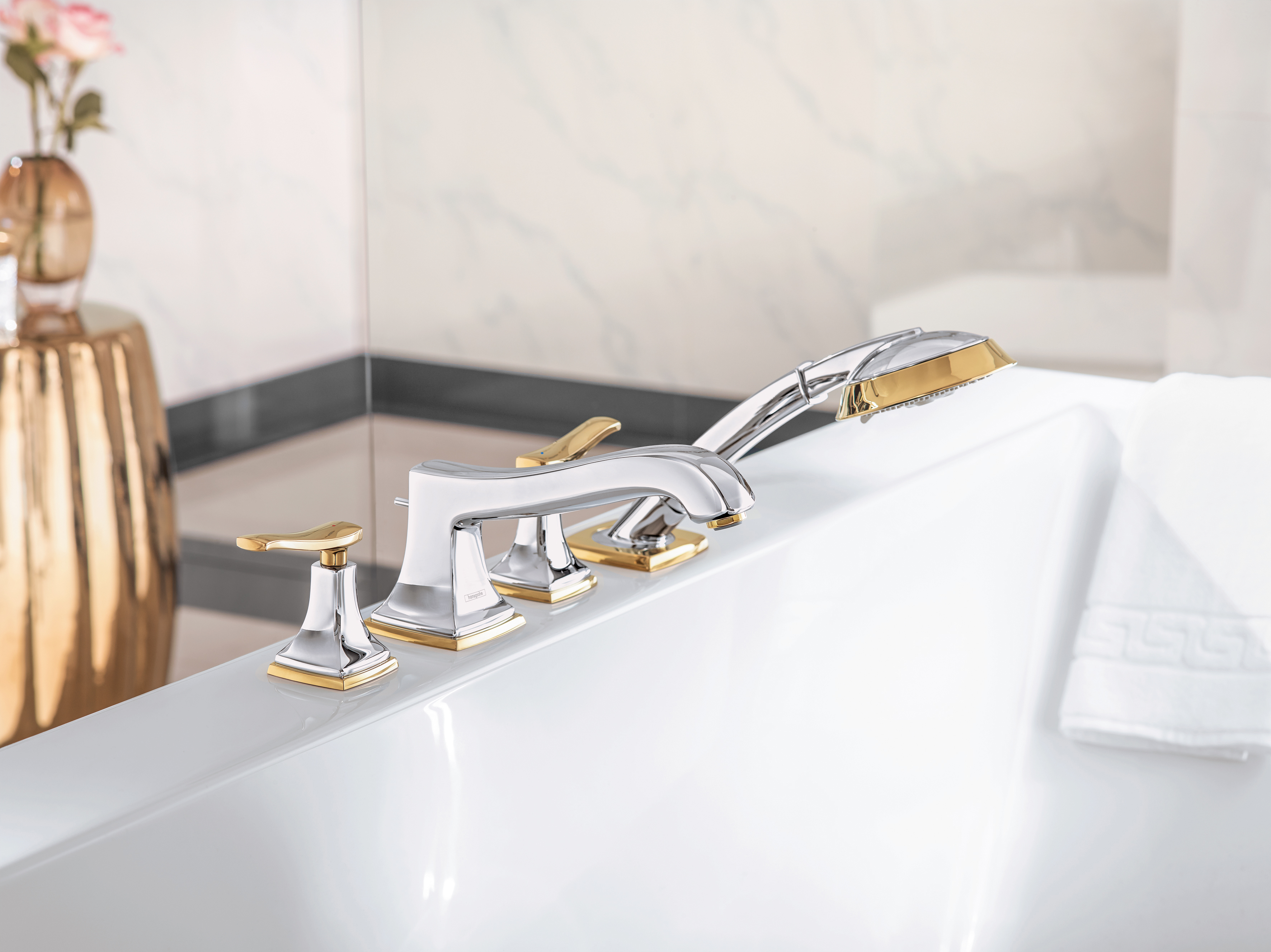 Metropol Classic 4-hole bath mixer lever by Hansgrohe | STYLEPARK