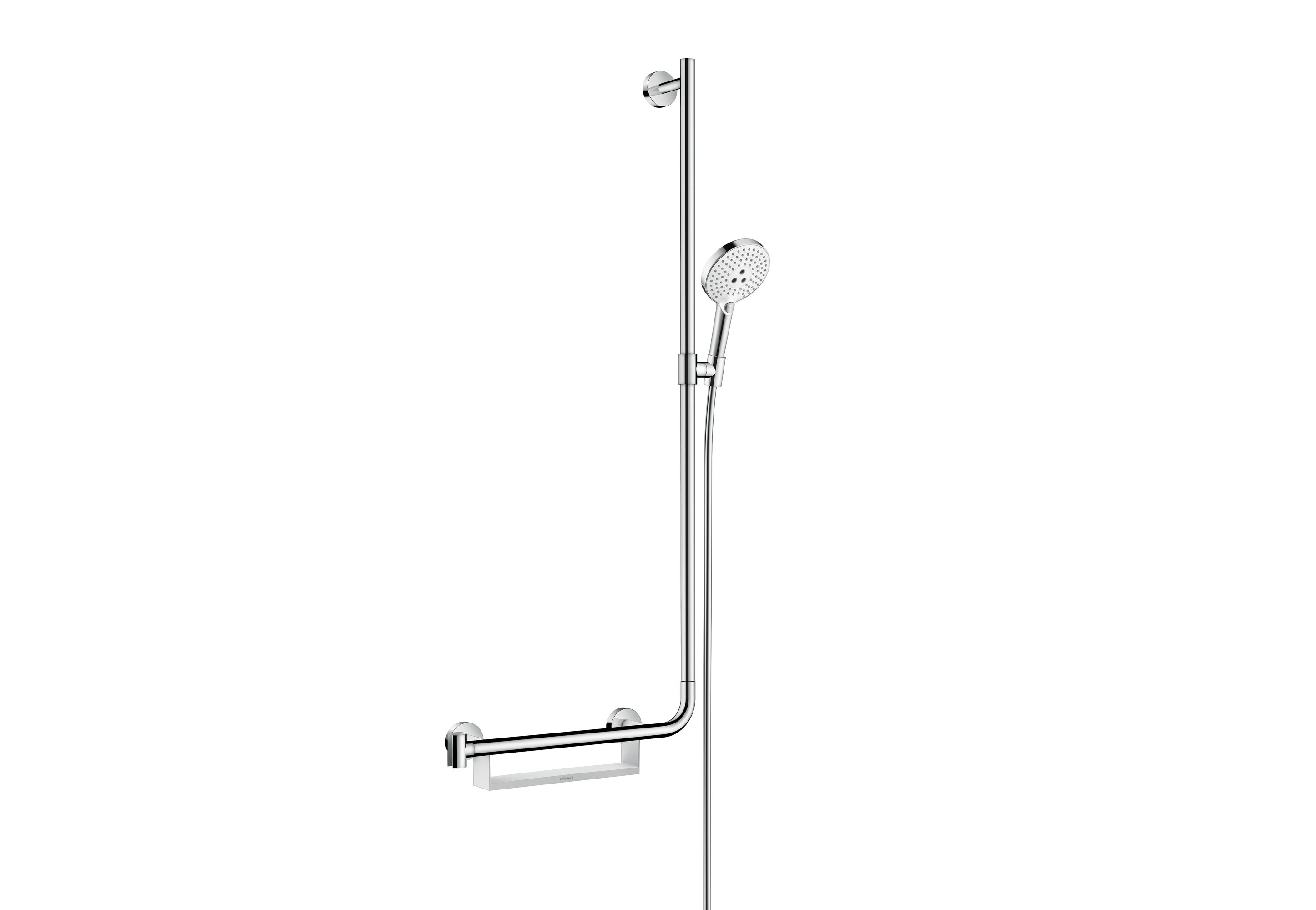 Unica Comfort shower bar right by Hansgrohe | STYLEPARK