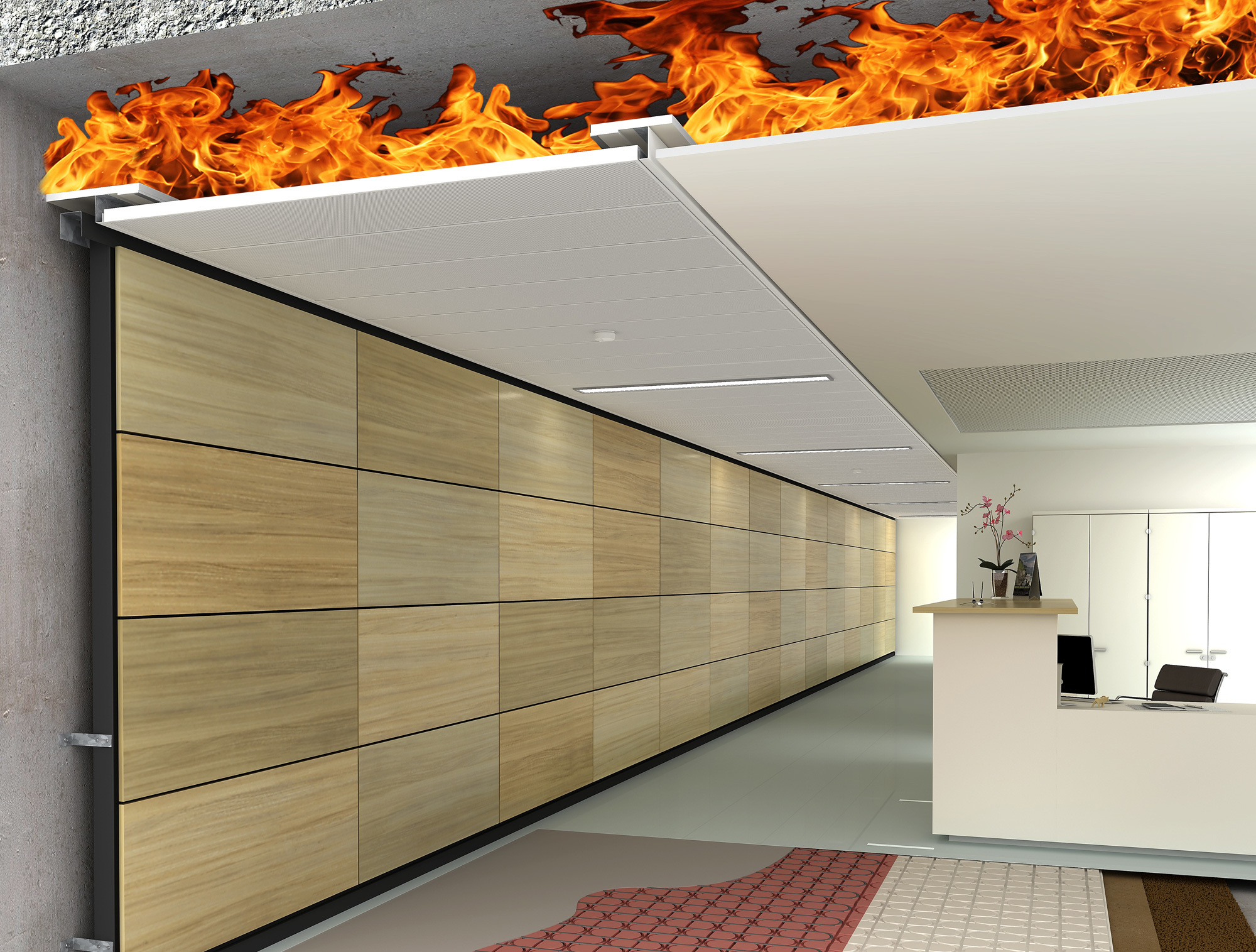 LMD F30 TIPmotion® Suspended Fireproof Ceiling by Lindner Group ...