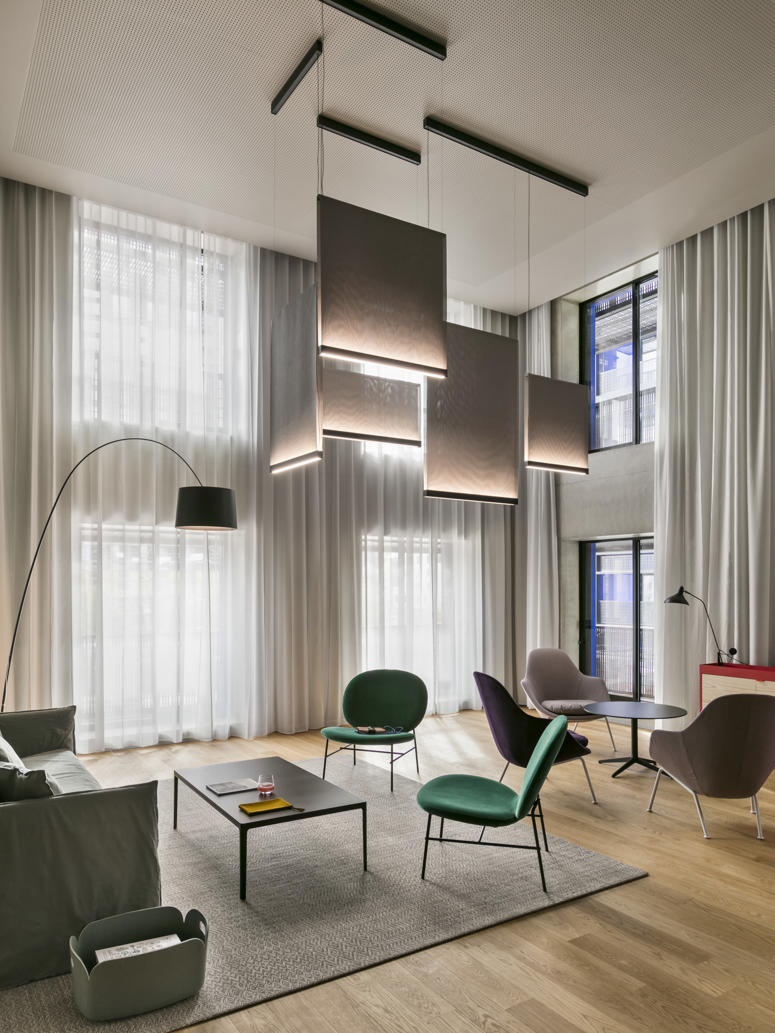A hotel interior in strasbourg by patrick norguet stylepark for Hotel design strasbourg