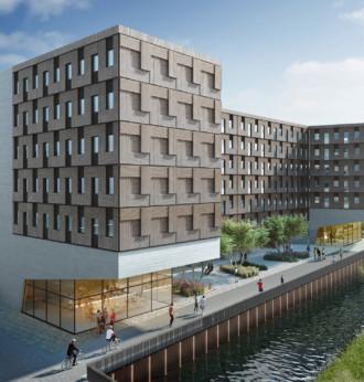 Studentenwohnheim in Holz-Modulbauweise in Hamburg-Wilhelmsburg von Sauerbruch Hutton