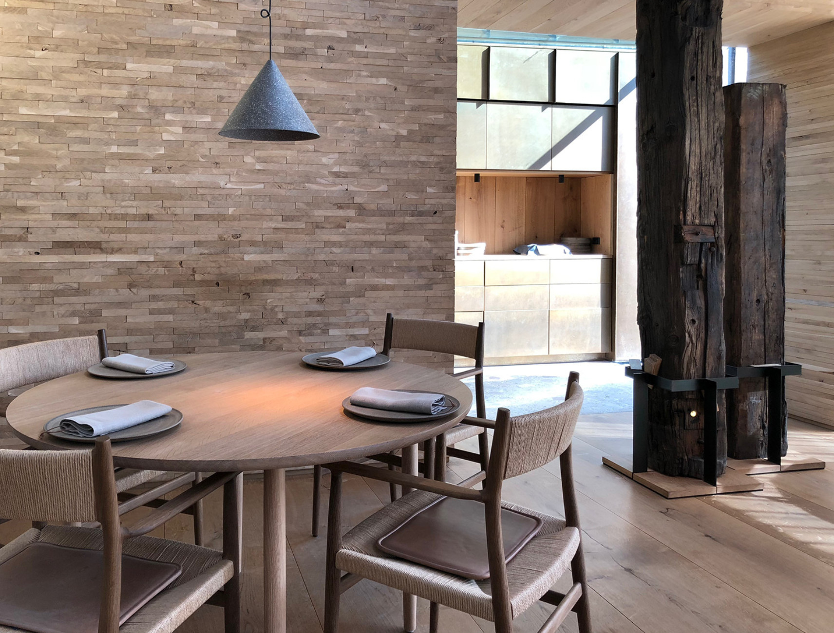 """Custom-made for the """"Noma 2.0"""": tables and chairs by Brdr. Krüger"""