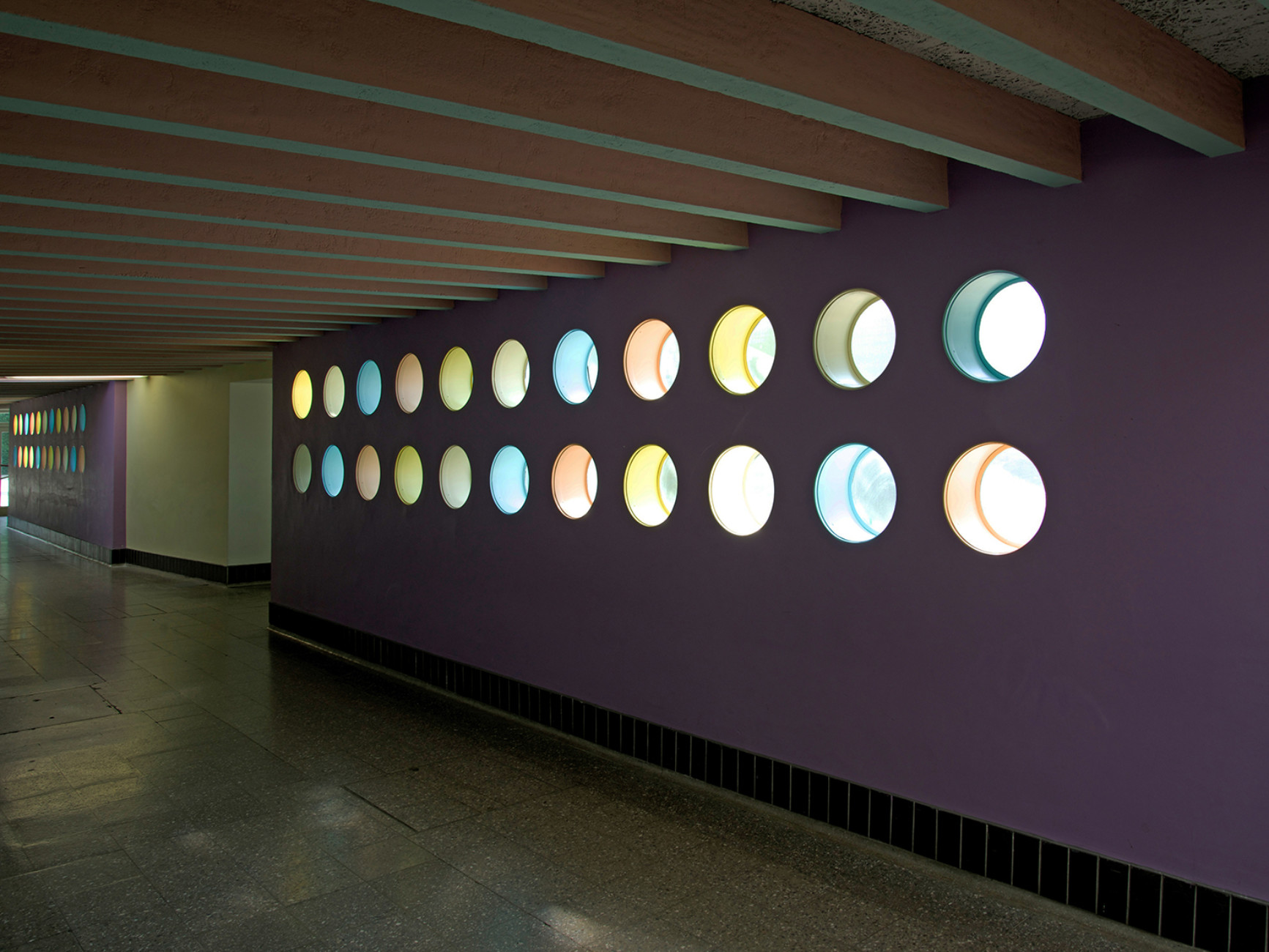 Geschwister Scholl secondary school, Lünen (1955-1962), hallway