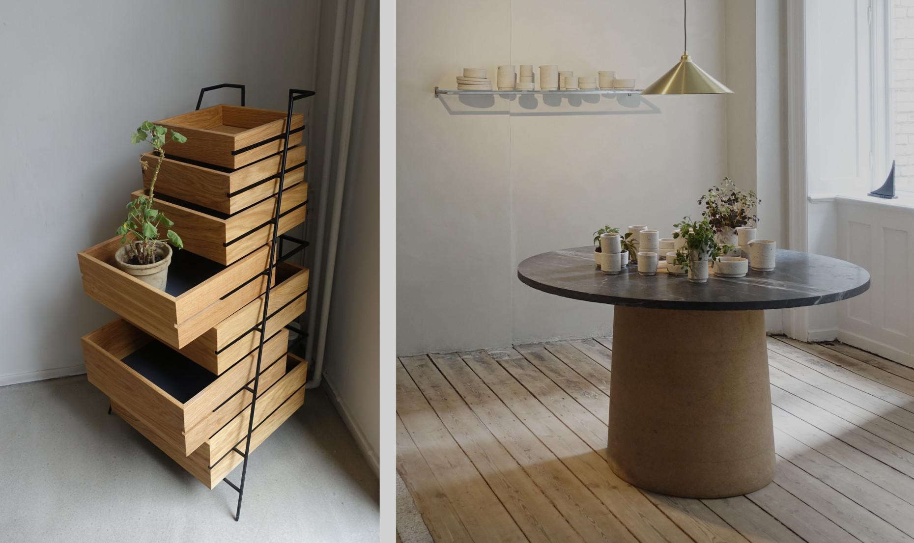 Designstudio FRAMA Products on display