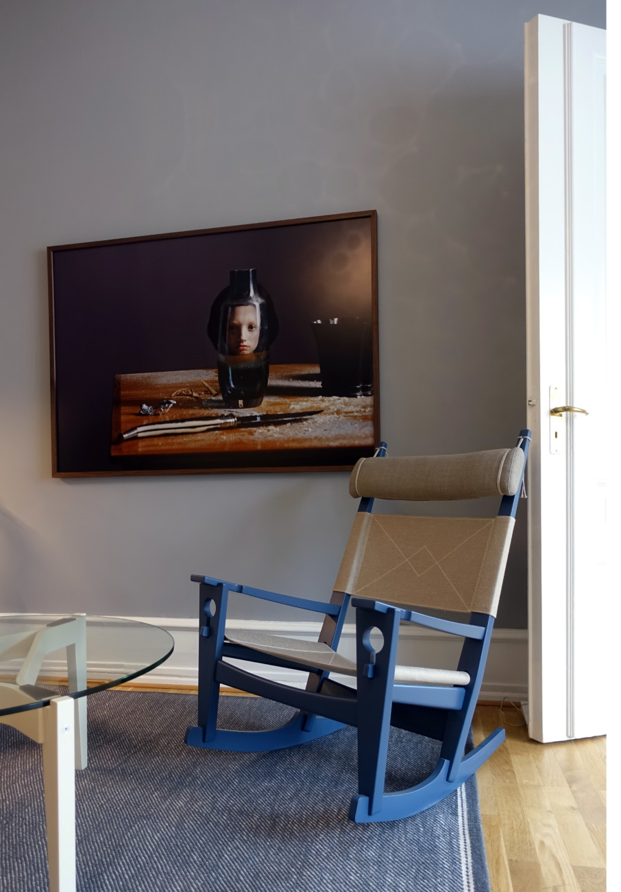 Getama Showroom Copenhagen rocking chair by Hans J. Wegner