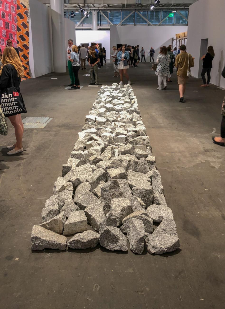 Richard Long Ivory Granite Line 2016 Art Basel 2018 Stylepark