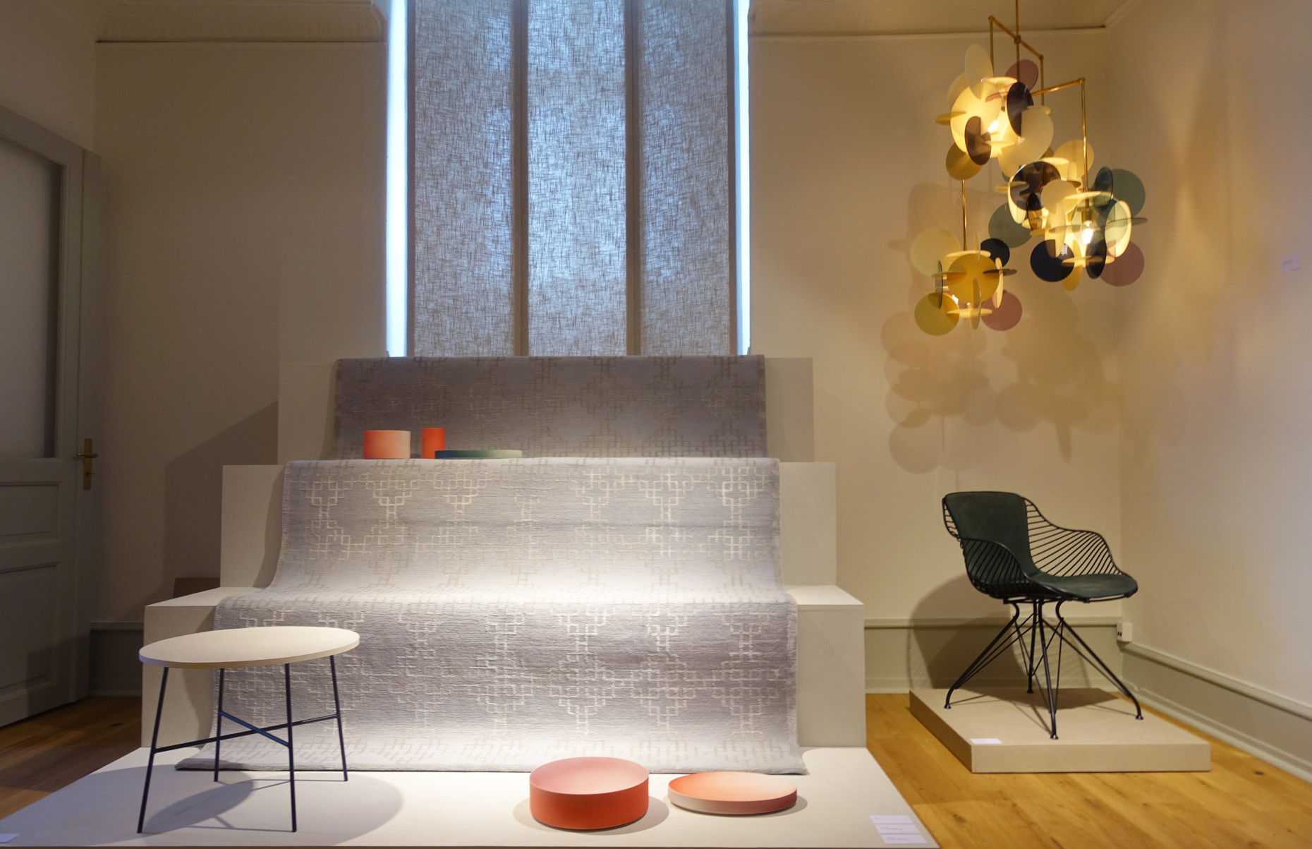 """Young design brands present their products at the exhibition """"upstairs""""."""