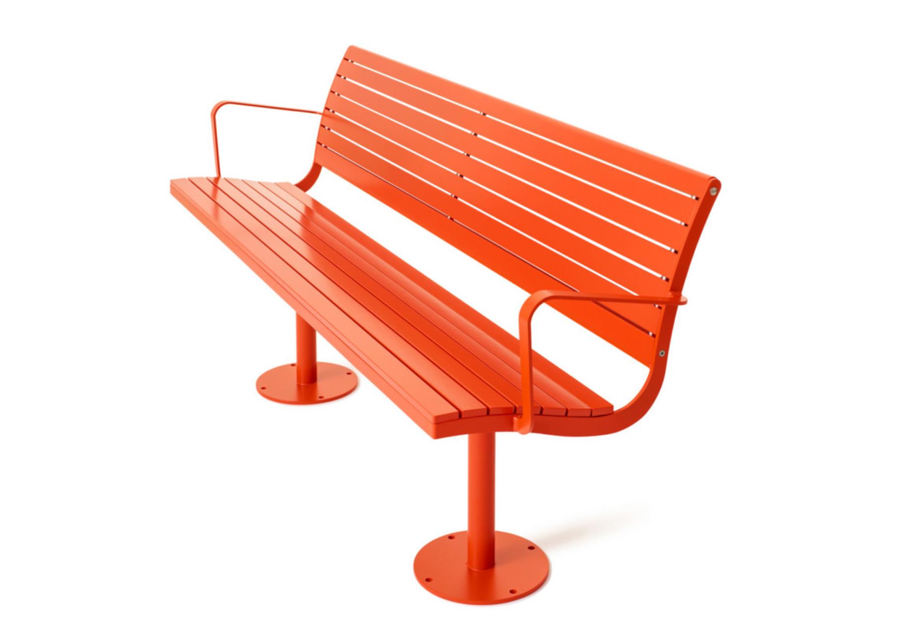 Parco umfasst eine Reihe von Freiraum Möbeln, darunter auch eine Bank