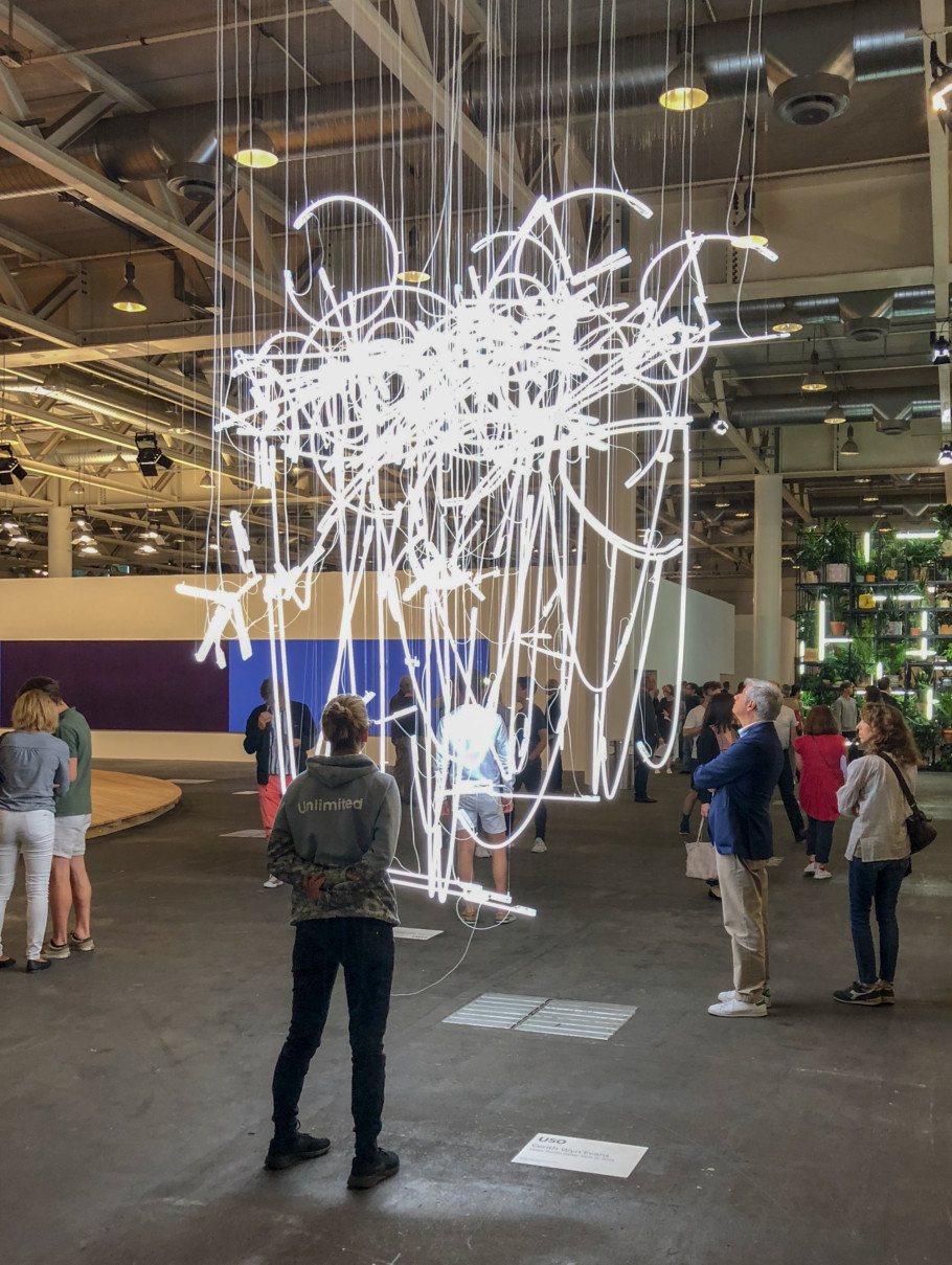 Cerith Wyn Evans Neon Forms After Noh I 2015 Art Basel 2018 Stylepark