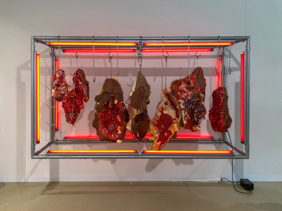 Doreen Garner Red Rack Of Those Ravaged And Unconsenting 2018 Ar Basel 2018 Stylepark
