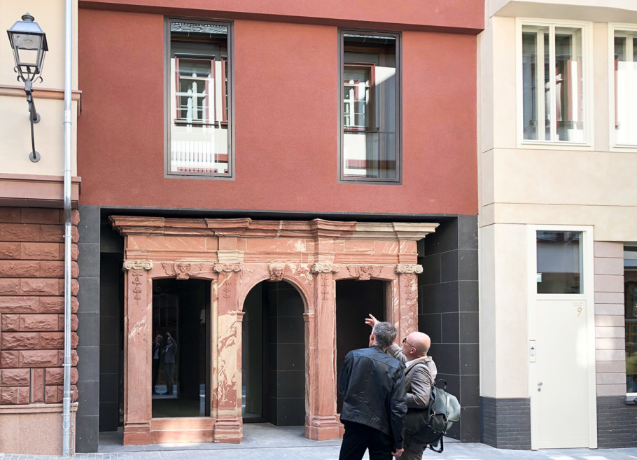 ​Historical spolia integrated in a new building​
