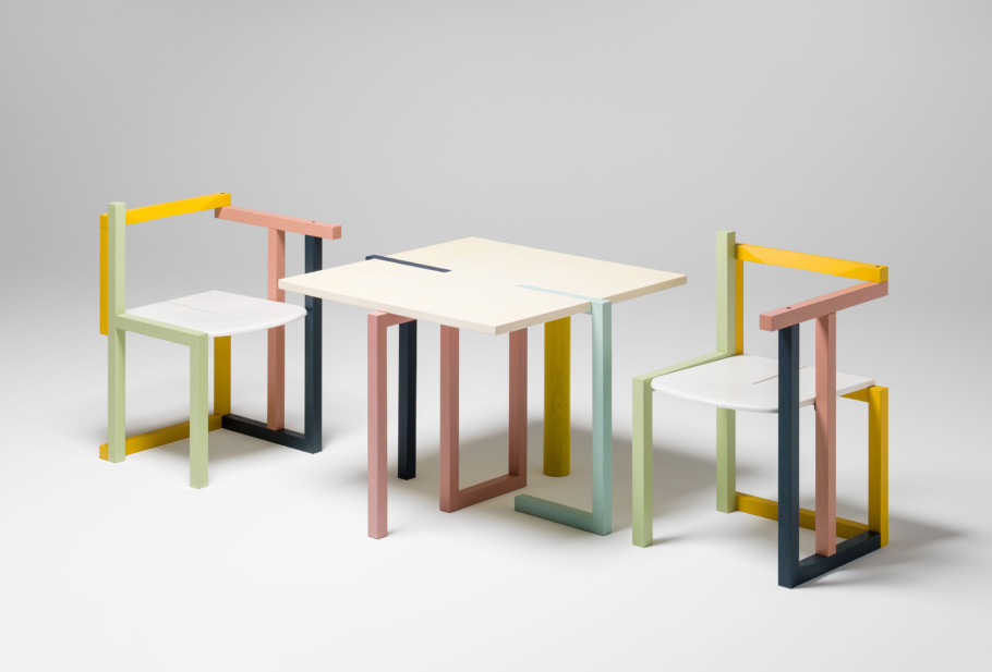 Susi und Ueli Berger, STUHL-Stuhl und TISCH-Tisch, 1981, Museum für Gestaltung Zürich, Designsammlung, Foto: © ZHdK
