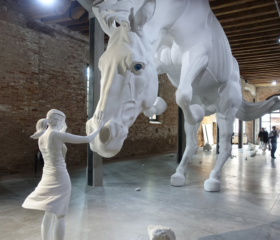 "On horseback: ""The Horse Problem"" is the name Claudia Fontes chose for her installation in the Argentine Pavilion in the Arsenale grounds – it alludes in its own strange way to the nation's founding myth."