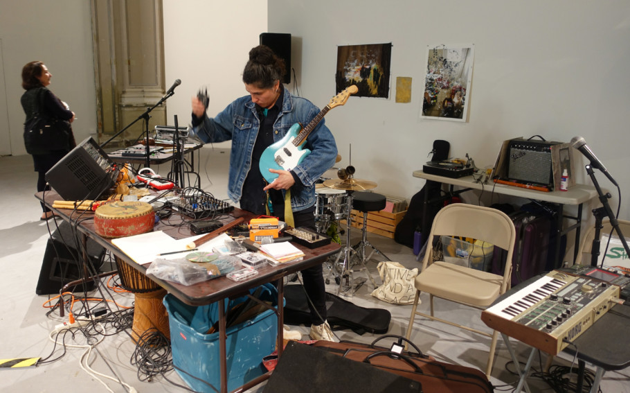 Scenes from the production front: Dawn Kasper paints, photographs, makes performances and installations and has even transported her entire studio into the Central Pavilion.