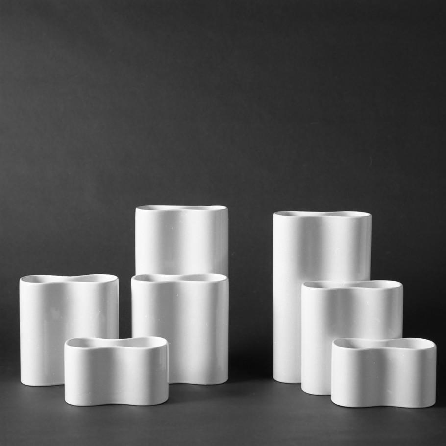 Vasen, Waechtersbach Keramik, glasiertes Steingut, Entwurf Lore Kramer (1970/71)