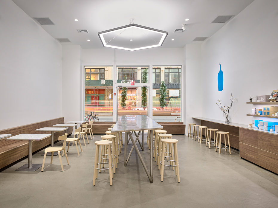 Image gallery furniture by Plank at the Blue Bottle Gramercy Park Café
