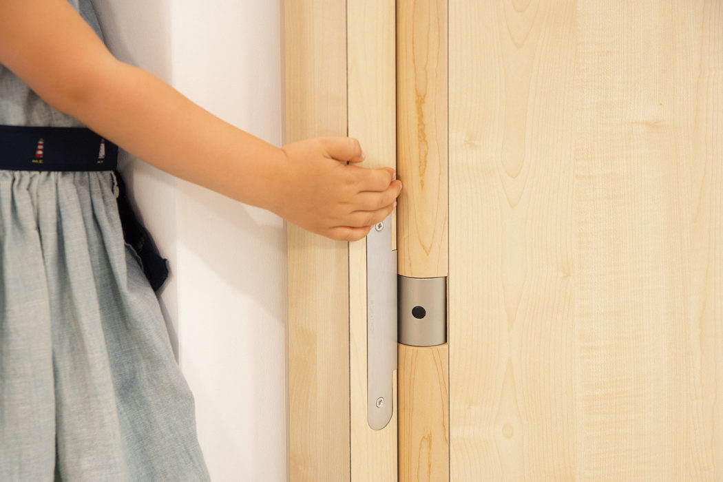 Image gallery hinge systems by SIMONSWERK for the nursery dSpace