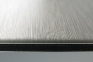 DIBOND® butlerfinish edelstahl  von  3A Composites