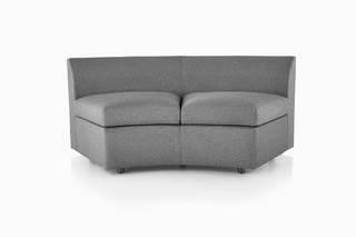 Bevel Curved Settee  by  Herman Miller