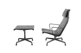 Eames Aluminum Group Lounge Chair and Ottoman  by  Herman Miller