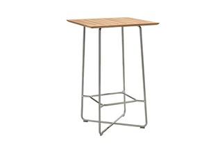 Bar table stainless steel, teak  by  Garpa