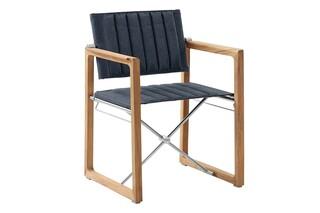 Benton armchair blue smoke foldable  by  Garpa