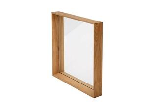 Fascino mirror with teak frame, square  by  Garpa