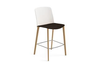 Mixu - Counter stool 4 wood legs  by  Arper