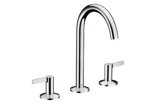 AXOR One 3-hole basin mixer 170 with push-open waste set Chrome  by  AXOR