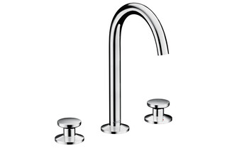 AXOR One 3-hole basin mixer Select 170 with push-open waste set Chrome  by  AXOR