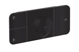 Axor One Thermostatic module for concealed installation for 3 functions Matt Black  by  AXOR