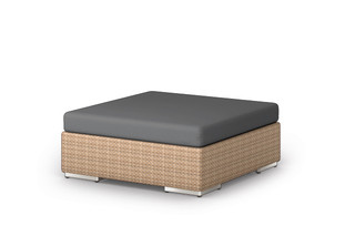 LOUNGE footstool 110x110  by  DEDON