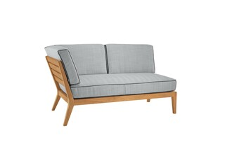 Valencia lounge chaise longue with armrest right  by  Garpa