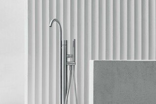 AA/27 Floor-standing bathtub mixer  by  Fantini