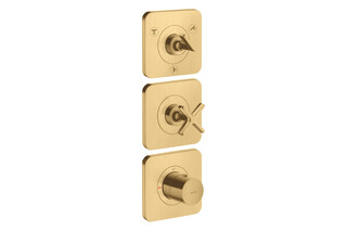 AXOR Citterio E Thermostatic module 380/120 for concealed installation for 3 functions with escutcheons Brushed Gold Optic  by  AXOR