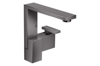 AXOR Edge Einhebel-Waschtischmischer 190 mit Push-Open Ablaufgarnitur - Diamantschliff Polished Black Chrome  von  AXOR