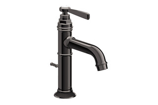 AXOR Montreux Single lever basin mixer 100 with lever handle and pop-up waste set Polished Black Chrome  by  AXOR